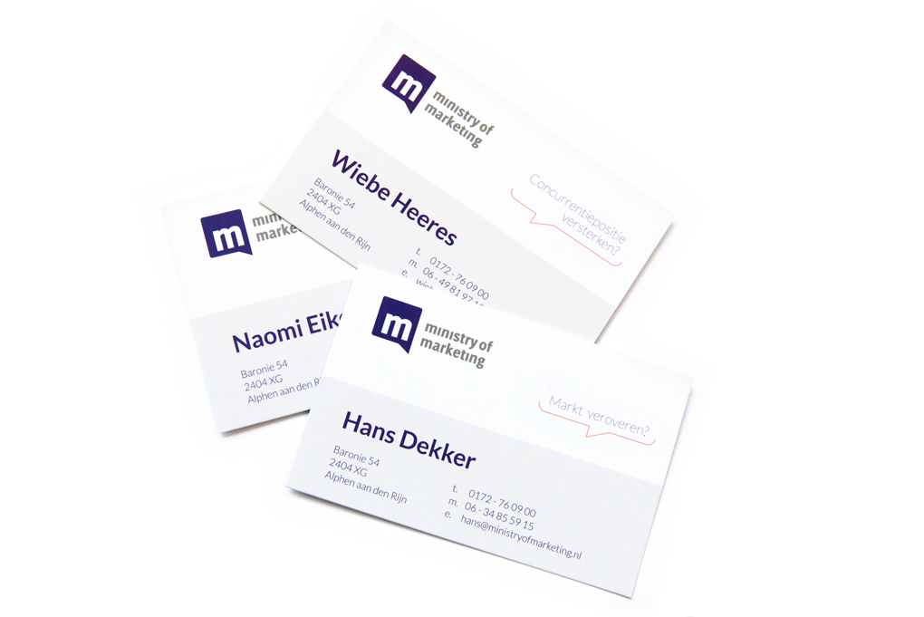 Visitekaartjes businesscards