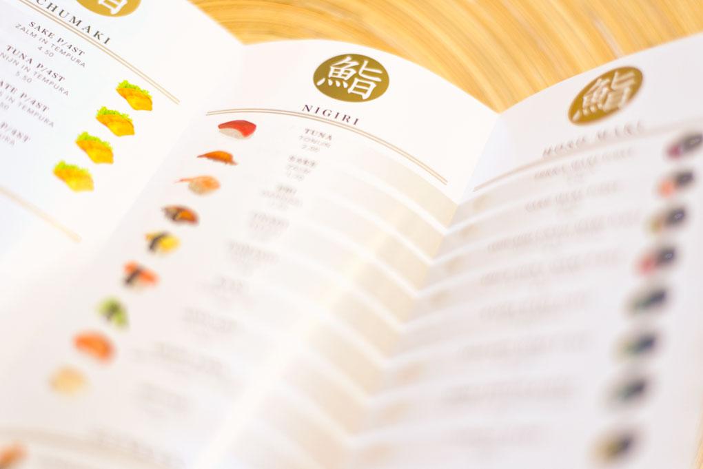 Menukaart Akira Sushi
