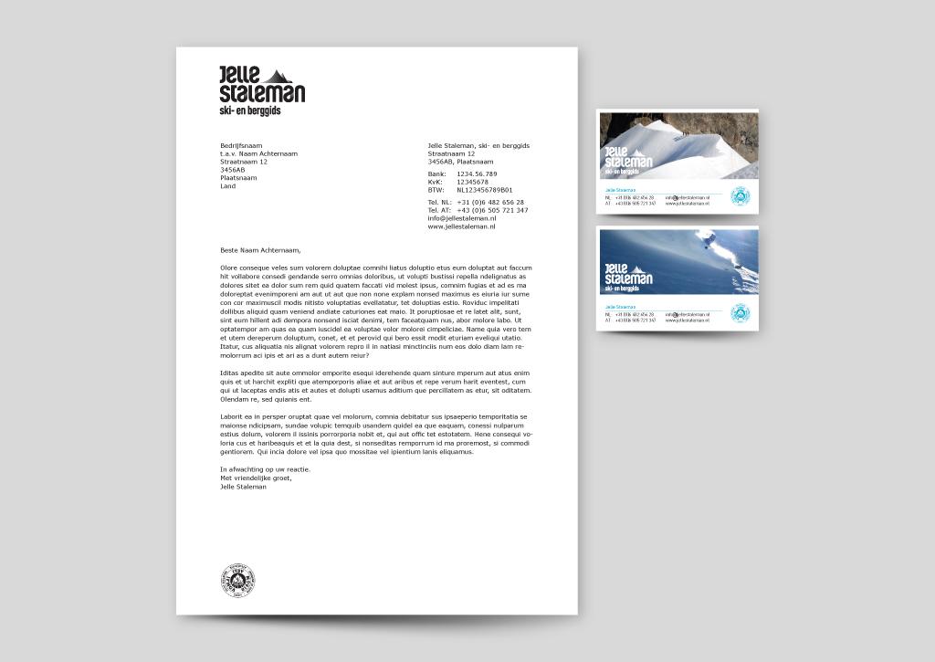 Briefpapier Visitekaartje Jelle Staleman